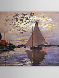Famous Oil Painting A Sailboat at Le Petit-Gennevilliers by Claude Monet