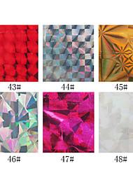 1pcs Laserfolie Nageldekorationen Sternennagelaufkleber no.43-48 (130x4.5x0.1cm, farblich sortiert)