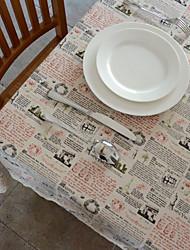 Retro Scenic Linen Table Cloth