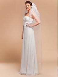 4 Layers Waltz Wedding Veils With Cut Edge
