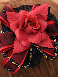 Lolita Jewelry Gothic Lolita Headwear Lolita Red / Black Lolita Accessories Headpiece Floral For Men / Women Cotton