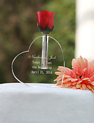 Cake Toppers Personalized Heart Shaped Cake Topper/Crystal Keepsake