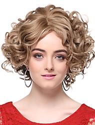 Capless 100% Human Hair Blonde Short Wavy Hair Wigs