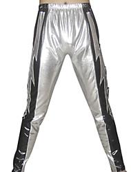 Prata raios Pants metálico brilhante