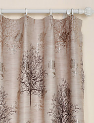 Two Panels Earth Floral  Botanical Polyester Panel