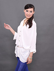 E·BECKY Fashion Lady's Chiffon Long Sleeve Shirt