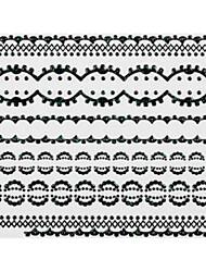 4pcs Black Lace Nail Stickers NO.5 mariage