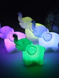 Wedding Décor Lovely Vinyl Elephant LED Lamp - Set of 4 (Color Changing, Built-in Botton Cell)
