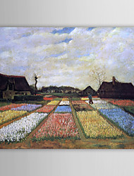 Famous Oil Painting Flower-beds-in-holland by Van Gogh