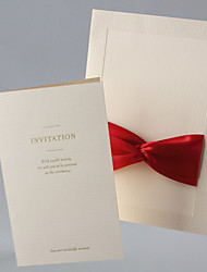 Vintage Wedding Invitation With Ribbon - Set of 50/20 (More Colors)