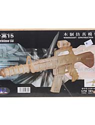 Carbine 15 DIY Houten 3D Puzzel Jigsaw Construction Kit (Model: G-P109)