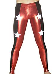 Rojo y Negro pantalones metálicos brillantes