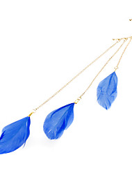 Longs glands Plumes exagérées Hanging Earring