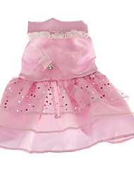 Dog Dress Pink Summer Sequins Wedding