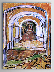 Famous Oil Painting Corredor no hospital de St Paul por Van Gogh