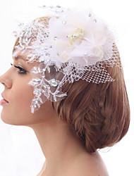 Schöne Silk Screen / Pailletten und Spitze-Hochzeits-Braut-Hut