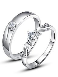 Fabuleux Argent 925 Cubic Zirconia anneaux de couple