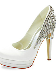 Fabulous Satin Stiletto Heel Pumps With Rhinestone Wedding Shoes (More Colors)