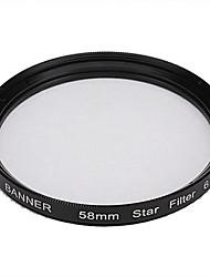 Banner 6pt 58mm Sterne Filter für Canon, Nikon, Sony und mehr