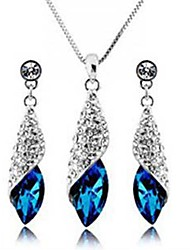 women's Elegant Gemstone Jewelry Set(Earring and Necklace)
