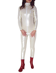 Bianco Shiny Metallic PVC Catsuit