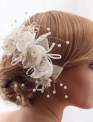 Women's/Flower Girl's Satin/Fabric/Crystal/Tulle/Imitation Pearl Headpiece - Wedding/Casual/Outdoor/Special Occasion/Office & CareerHair