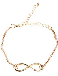 Shixin® Gold Plated Alloy Infinity Charm with an Adjustable String Bracelet  Jewelry Christmas Gifts