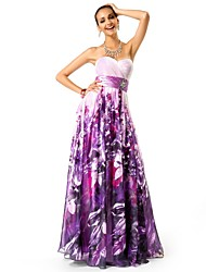 Formal Evening/Prom/Military Ball Dress A-line/Princess Strapless/Sweetheart Floor-length Chiffon