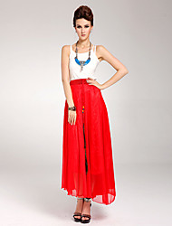 Women's Ruffled Maxi Skirt