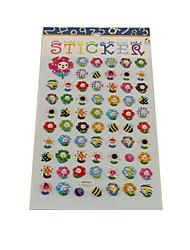 Cartoon Sunflower Series Stereo Bubble Sticker