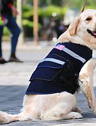 americano camisa mochila estilo para cães (m-xl)