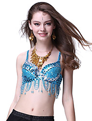 Dancewear Sequins with Silver Loops Belly Dance Top For Ladies More Colors