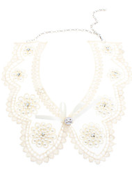Pearl Flower Diamond Transparent Lace Collar