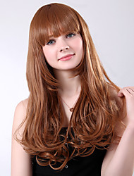 Capless Long High Quality Synthetic Blonde Wavy Full Bang Wings