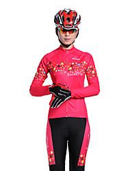 Mysenlan Per donna Maniche lunghe Bicicletta Set di vestiti Tenere al caldo Zip impermeabile Zip anteriore Indossabile TraspiranteTessuto