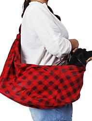 Solo hombro Pendiente Tipo de vino Tinto Gridding Patrón Pet mochila de viaje para perros