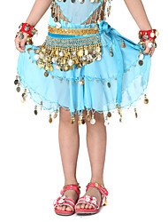 Dancewear Velvet with 248 Coins Belly Dance Belt For Children More Colors