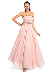 TS Couture® Formal Evening Dress - Open Back Plus Size / Petite A-line / Princess Strapless / Sweetheart Floor-length Chiffon with Crystal