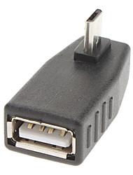 90 grados a la derecha del USB / adaptador de A a F / M 5P Micro