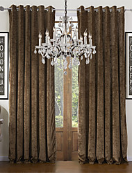 (Two Panels) Solid Chenille Classic Energy Saving Curtain