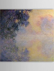 Famous Oil Painting Arm of the Seine near Giverny in the Fog by Claude Monet