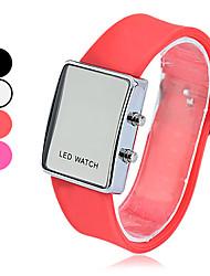 Square Digital Silicone Band LED Wrist Watch