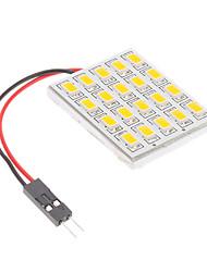 T10/BA9S/Feston 4.5W 20x5730SMD blanc chaud Ampoule LED pour la lampe de lecture de voiture (12V)