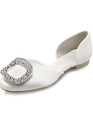 Beautiful Satin Flat With Rhinestone Wedding / Party Shoes