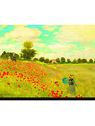 Field of Poppies, c.1886 by Claude Monet Famous Stretched Canvas Print