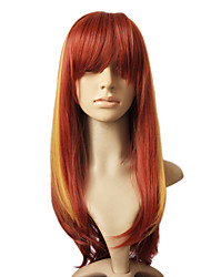Capless Synthetic Hair Mixed Color Long Straight Hair Wig