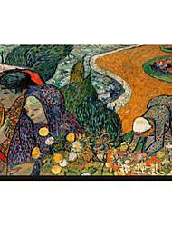 Les femmes d'Arles (souvenirs du jardin à Etten), 1888 par Vincent Van Gogh célèbre toiles tendues