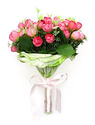 Belle ronde bouquet de mariage / Bouquet de mariée rose