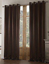 (Two Panels) Solid Classic Eco-friendly Curtain
