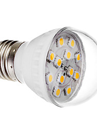 E27 2W 12x5050 SMD 140-170LM 2800-3200K Warm White Light LED Ball Bulb (220V)